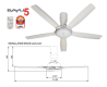 Panasonic Ceiling Fan [F-M14D5 WT]
