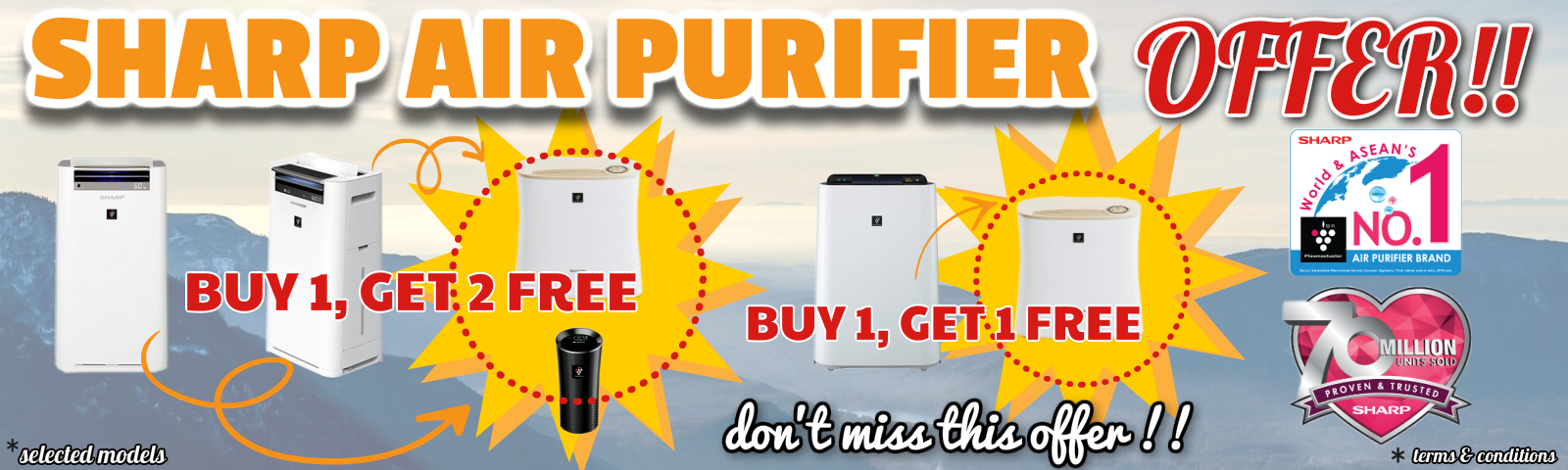 Sharp air purifier on Promo!!