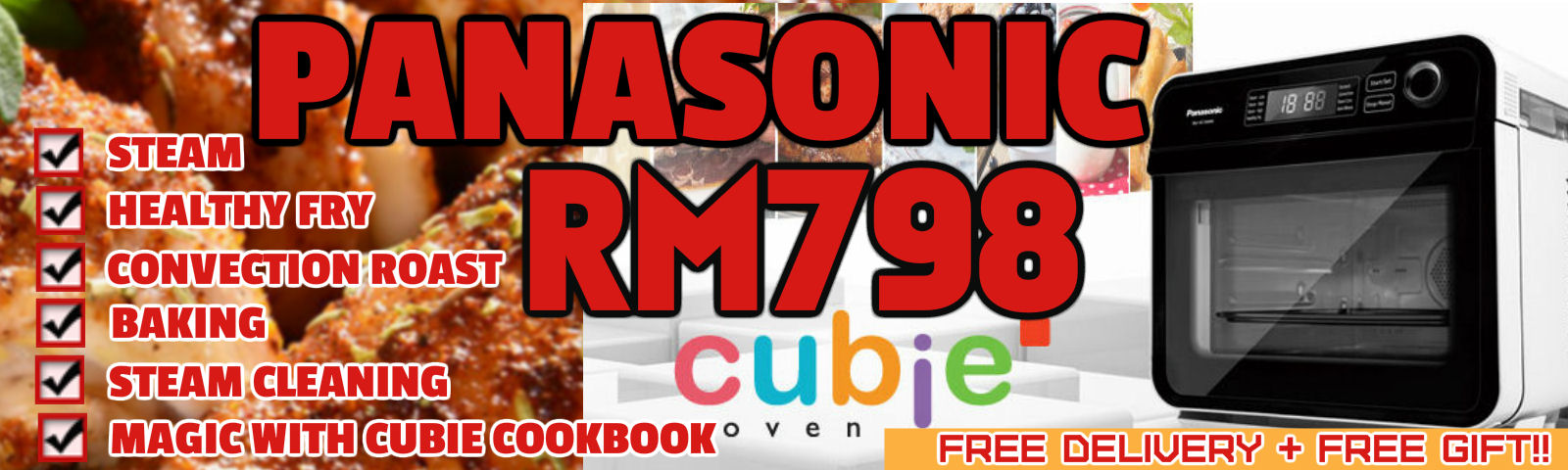 Panasonic Cubie Oven on Offer RM888