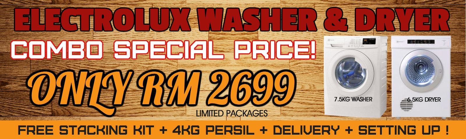 Electrolux washer & dryer combo offer!!